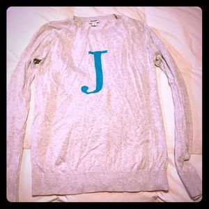 Grey initial sweater